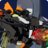 Micro LEGO Black Dragon
